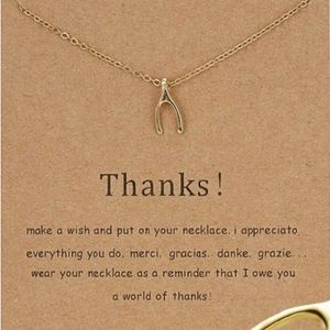 Jewelry - Make a Wish Necklace - Thank You
